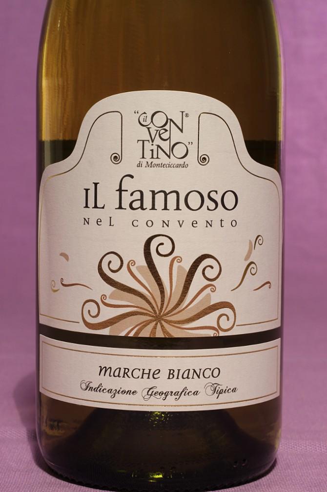 Etichetta del vino il famoso da 750 millilitri dell'azienda Il Conventino