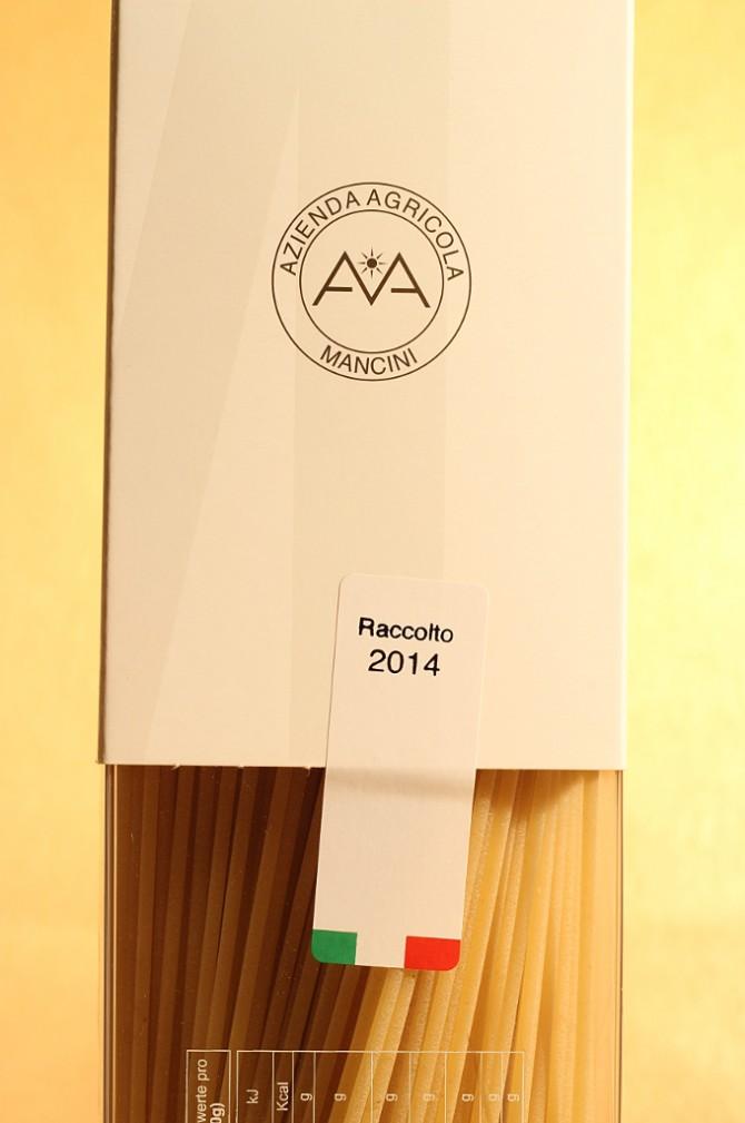 Annata degli spaghetti in astuccio da 1 chilogrammo dell'azienda agricola Mancini