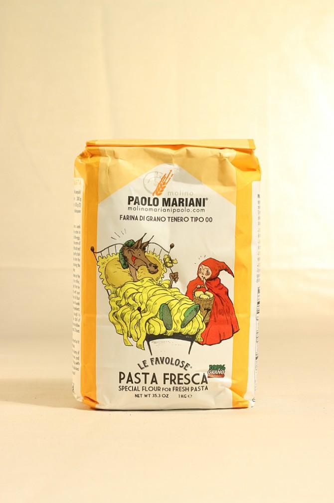 Farina per pasta fresca di grano tenero tipo 00 del molino Paolo Mariani