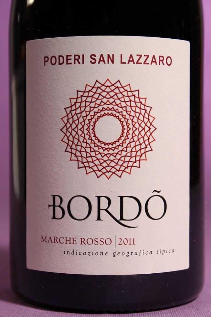 etichetta del vino Bordò dell'azienda agricola Poderi San Lazzaro