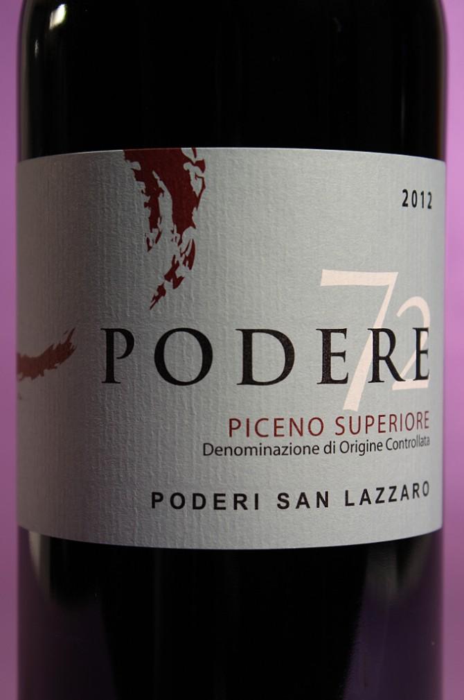 etichetta del vino Podere 72 dell'azienda agricola Poderi San Lazzaro