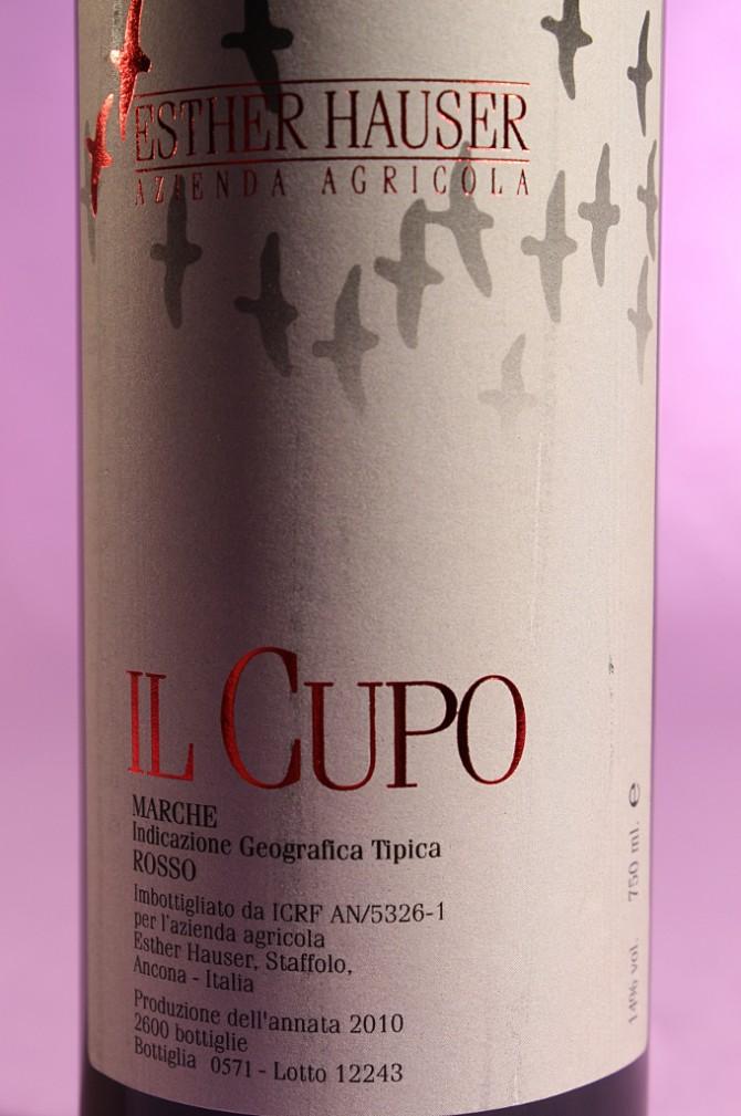 etichetta del vino il cupo 2010 da 750 millilitri dell'azienda agricola Esther Hauser