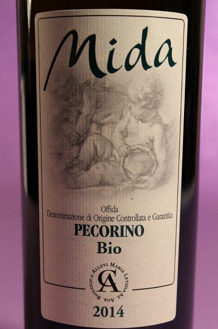 etichetta del vino mida pecorino 2014 prodotto dall'azienda agricola allevi maria letizia