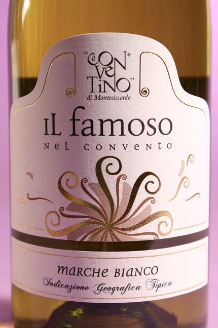 Etichetta dell'annata 2014 del vino Il Famoso dell'azienda agricola il Conventino di Monteciccardo