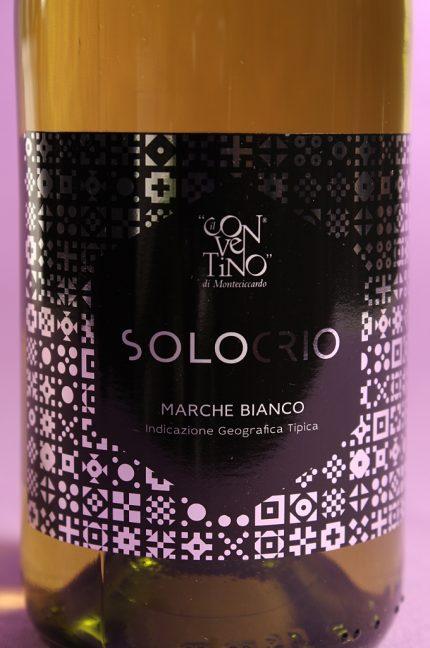 Etichetta del vino solocrio dell'azienda agricola il conventino di monteciccardo