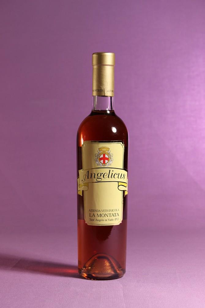 Vino passito e affumicato Angelicus dell'azienda agricola La Montata di Sant'Angelo in Vado (PU)