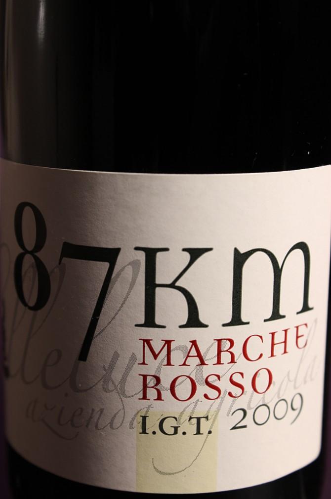 Etichetta del vino passito 87km della società agricola Colleluce di Serrapetrona (MC)