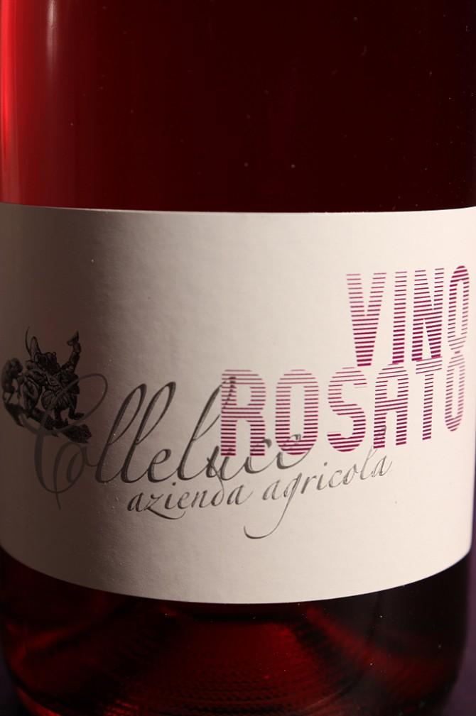 Etichetta del vino rosato Colleluce della società agricola Colleluce di Serrapetrona (MC)