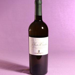 Vino bianco Verdicchoi dei Castelli di Jesi Tenuta del Cavaliere 2014 dell'azienda agricola Marchetti di Pontelungo (Ancona)