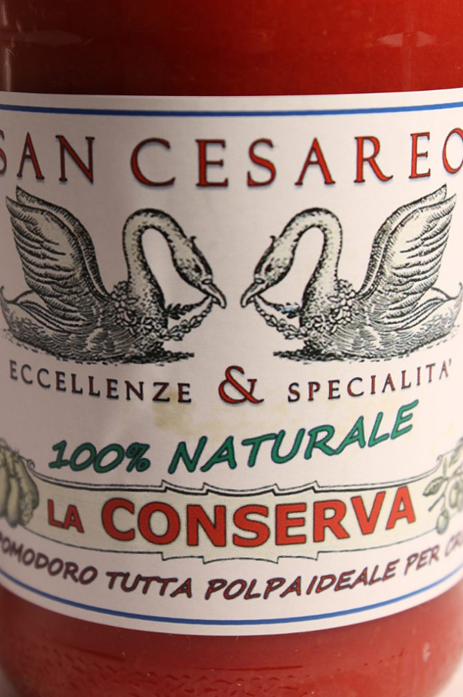 Etichetta della Passata di Pomodoro Conserva 500g - San Cesareo