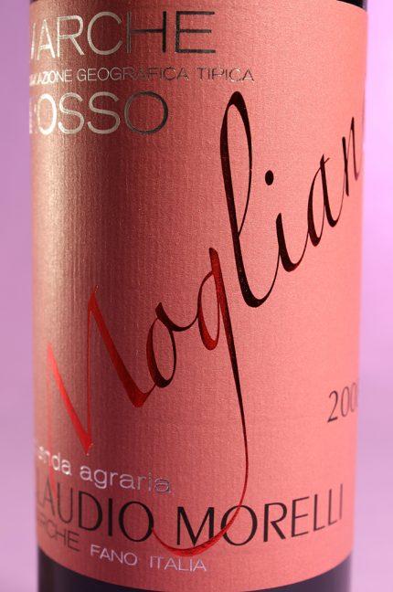 Etichetta del vino Mogliano, Marche Rosso IGT dell'azienda agricola Claudio Morelli